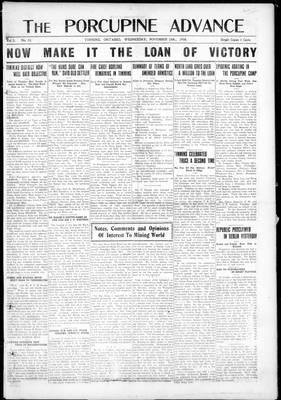 Porcupine Advance, 13 Nov 1918