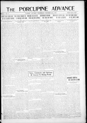 Porcupine Advance, 11 Dec 1918