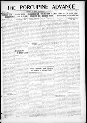 Porcupine Advance, 25 Dec 1918