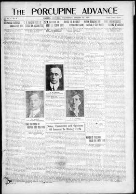 Porcupine Advance, 1 Jan 1919