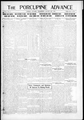 Porcupine Advance, 15 Jan 1919