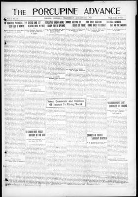 Porcupine Advance, 29 Jan 1919