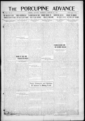 Porcupine Advance, 5 Feb 1919