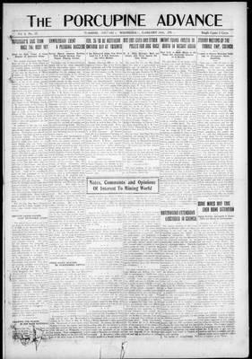 Porcupine Advance, 19 Feb 1919