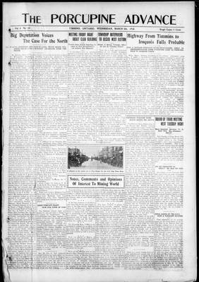 Porcupine Advance, 5 Mar 1919