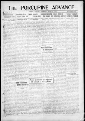 Porcupine Advance, 2 Apr 1919