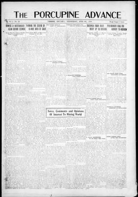 Porcupine Advance, 9 Apr 1919