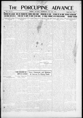 Porcupine Advance, 23 Jul 1919
