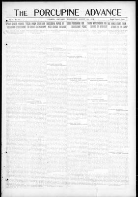 Porcupine Advance, 6 Aug 1919