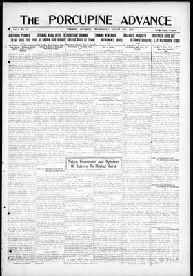 Porcupine Advance, 13 Aug 1919