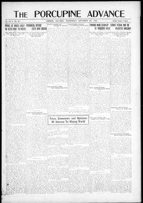 Porcupine Advance, 3 Sep 1919