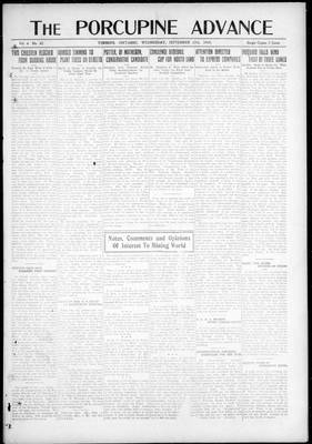 Porcupine Advance, 17 Sep 1919