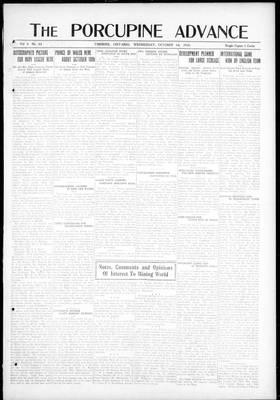 Porcupine Advance, 1 Oct 1919