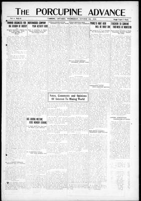 Porcupine Advance, 8 Oct 1919