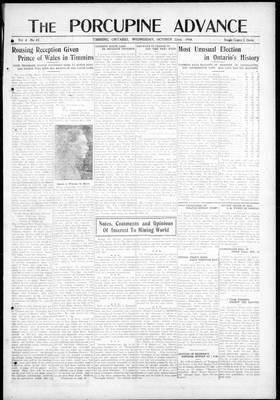 Porcupine Advance, 22 Oct 1919