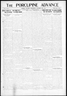 Porcupine Advance, 19 Nov 1919