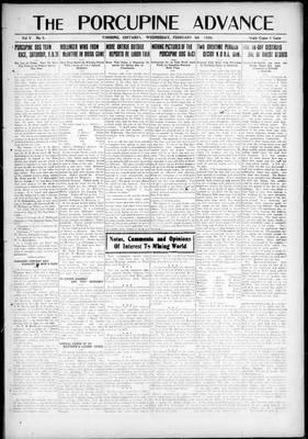 Porcupine Advance, 4 Feb 1920