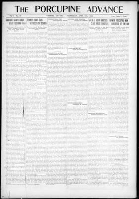 Porcupine Advance, 14 Apr 1920