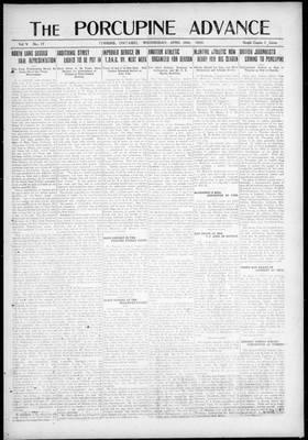 Porcupine Advance, 28 Apr 1920