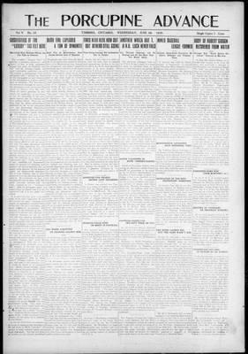 Porcupine Advance, 9 Jun 1920