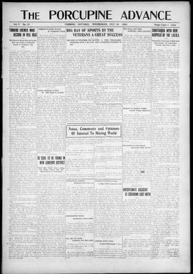 Porcupine Advance, 7 Jul 1920