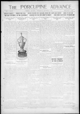 Porcupine Advance, 1 Sep 1920