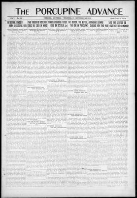 Porcupine Advance, 22 Sep 1920