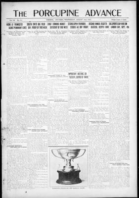 Porcupine Advance, 2 Aug 1922