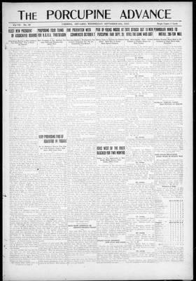 Porcupine Advance, 20 Sep 1922