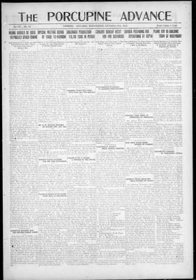 Porcupine Advance, 18 Oct 1922