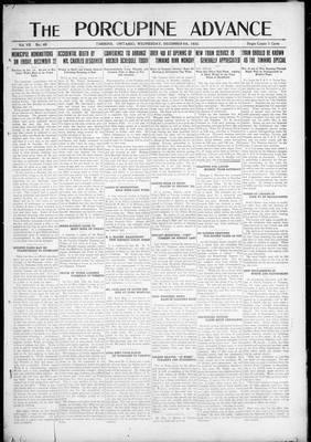 Porcupine Advance, 6 Dec 1922