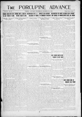 Porcupine Advance, 27 Dec 1922