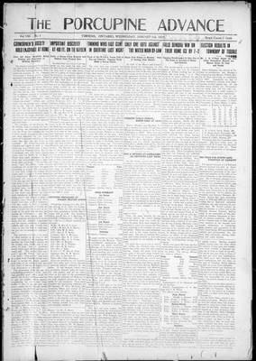 Porcupine Advance, 3 Jan 1923