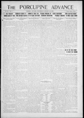 Porcupine Advance, 31 Jan 1923