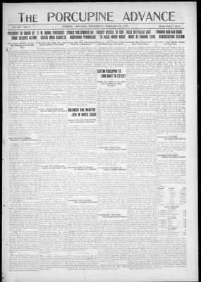 Porcupine Advance, 7 Feb 1923