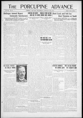 Porcupine Advance, 28 Feb 1923