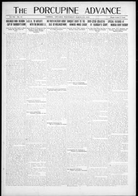 Porcupine Advance, 21 Mar 1923