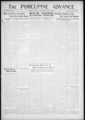 Porcupine Advance, 4 Apr 1923