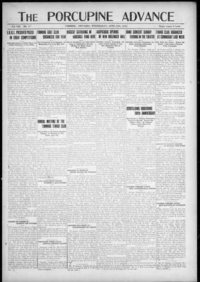 Porcupine Advance, 25 Apr 1923