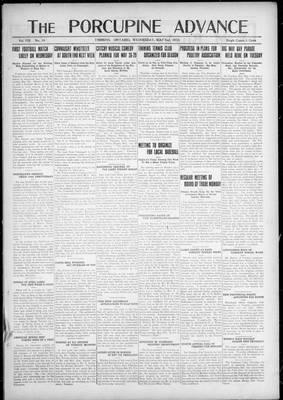 Porcupine Advance, 2 May 1923