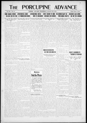 Porcupine Advance, 15 Aug 1923