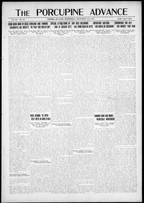 Porcupine Advance, 12 Sep 1923