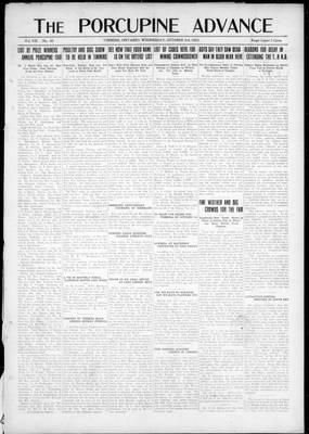 Porcupine Advance, 3 Oct 1923