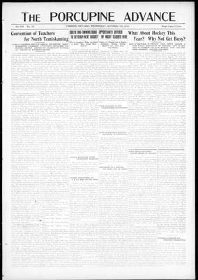 Porcupine Advance, 17 Oct 1923