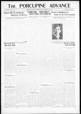 Porcupine Advance, 28 Nov 1923