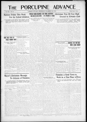 Porcupine Advance, 19 Dec 1923