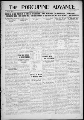 Porcupine Advance, 9 Jan 1924