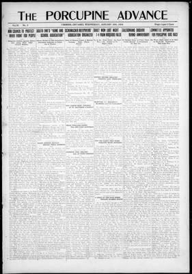 Porcupine Advance, 30 Jan 1924