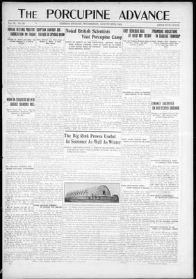 Porcupine Advance, 20 Aug 1924