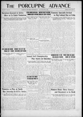 Porcupine Advance, 27 Aug 1924